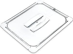Carlisle 10230U07 StorPlus Half Size Polycarbonate Universal Handled Food Pan Lid, Clear