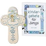 Kinder-Kreuz Kinderzimmer Schutzengel mit Harfe