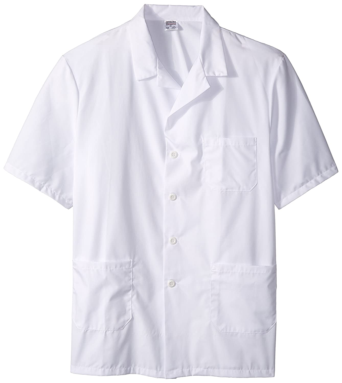 worklon 3409 poliéster/algodón Unisex manga corta farmacia bata de laboratorio con cierre de botón, 2 x -Large, blanco: Amazon.es: Amazon.es