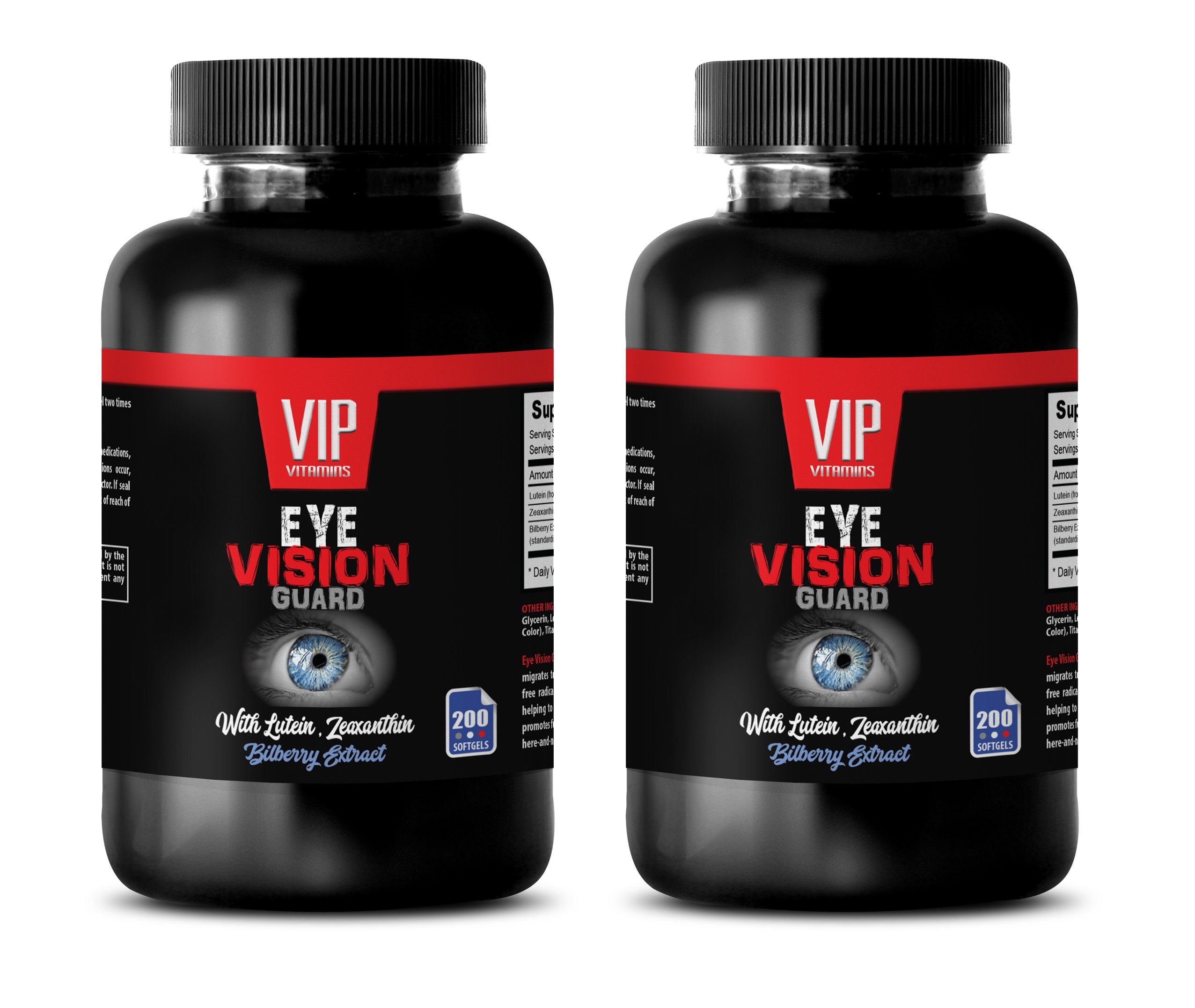 Vision Support Vitamins - Eye Vision Guard - Lutein Vision Health - 2 Bottles 400 Softgels
