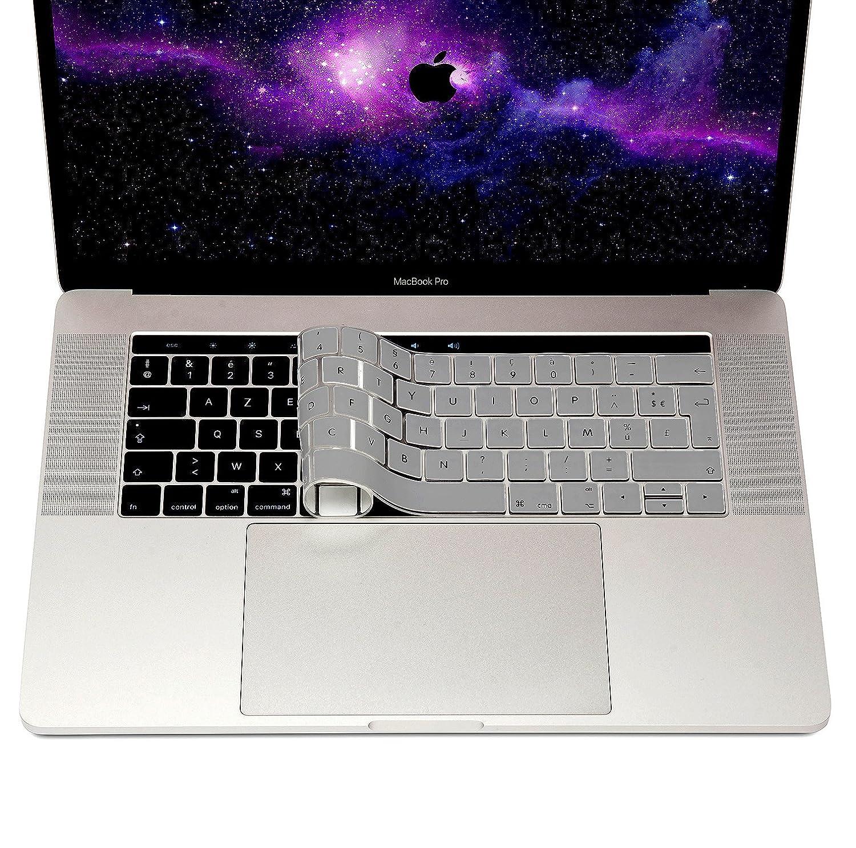 Protection poussi/ère Silicone Flexible Couverture Ultra Fine en Noir MyGadget Coque Clavier AZERTY pour Apple Macbook New Pro 13//15 2016