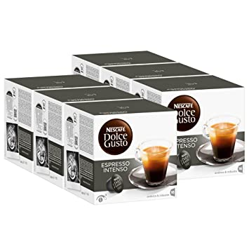 Nescafé Dolce Gusto Espresso Intenso, Paquete de 6, 6 x 16 Cápsulas: Amazon.es: Hogar