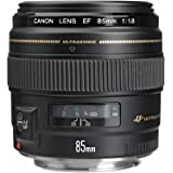 Canon EF 85mm f/1.8 USM - camera lenses (Telephoto, Canon EF, Black)