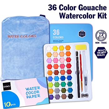 OOKU 36 Colors Watercolor Paint
