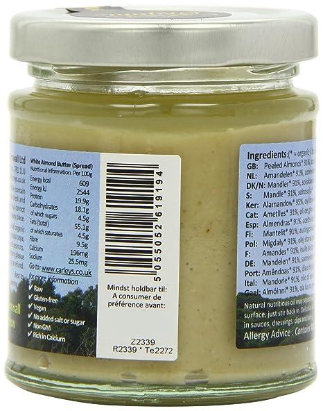 Carleys Raw Organic White Almond Butter 170 g (Pack of 3): Amazon.de ...