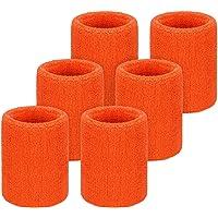 Willbond 6 Pièces Serre-Poignets Bracelets Poignet pour Sports Sweatbands Absorbants pour Le Foot-Ball Basket-Ball, Sport Athlétique Fonctionnement