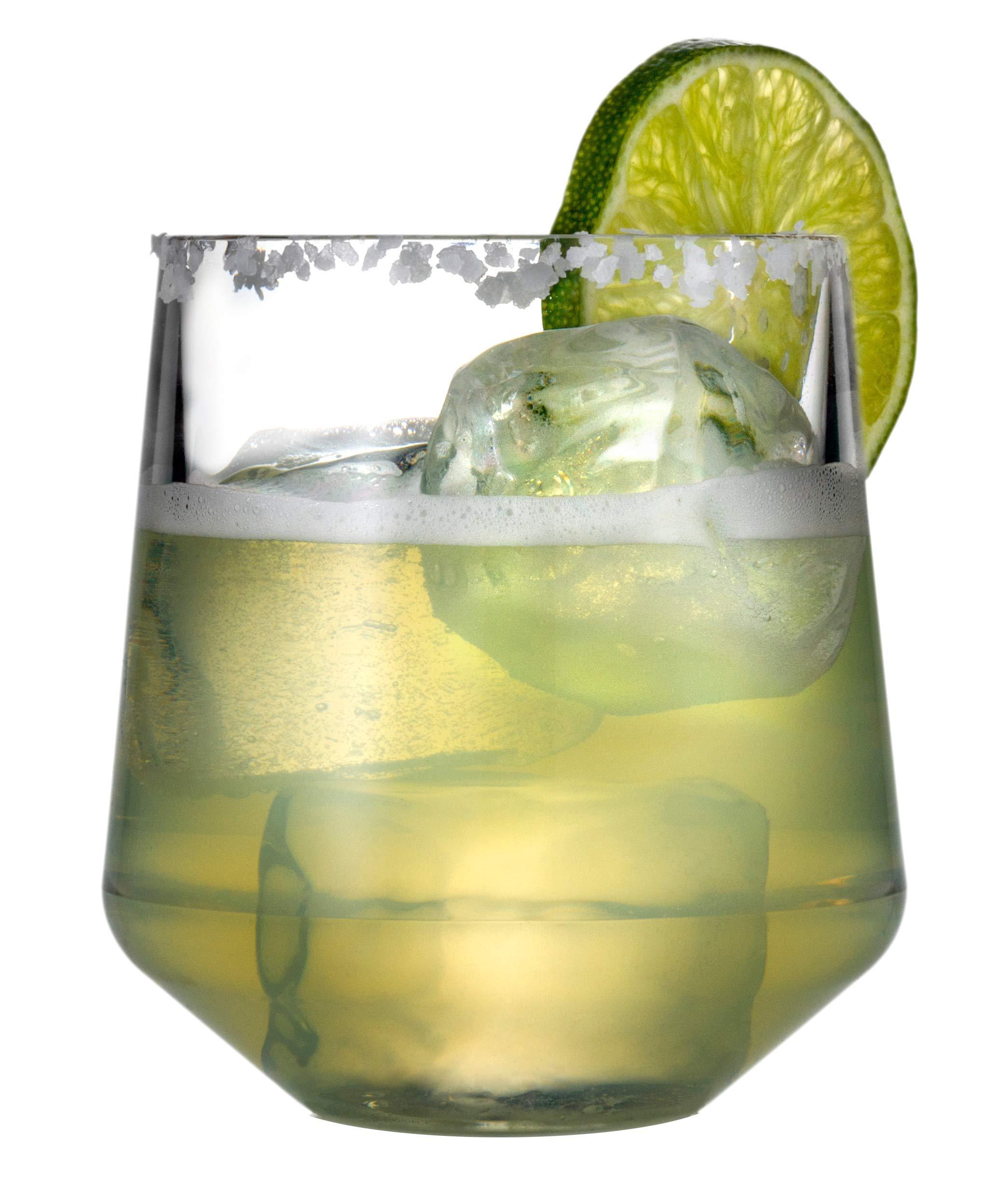 Drinique VIN-SW-CLR-4 Stemless Unbreakable Tritan Wine Glasses, 12 oz (Set of 4), Clear by Drinique (Image #5)