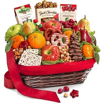 Image Unavailable  sc 1 st  Amazon.com & Amazon.com : Golden State Fruit Holiday Chocolate Nuts u0026 Fresh Fruit ...
