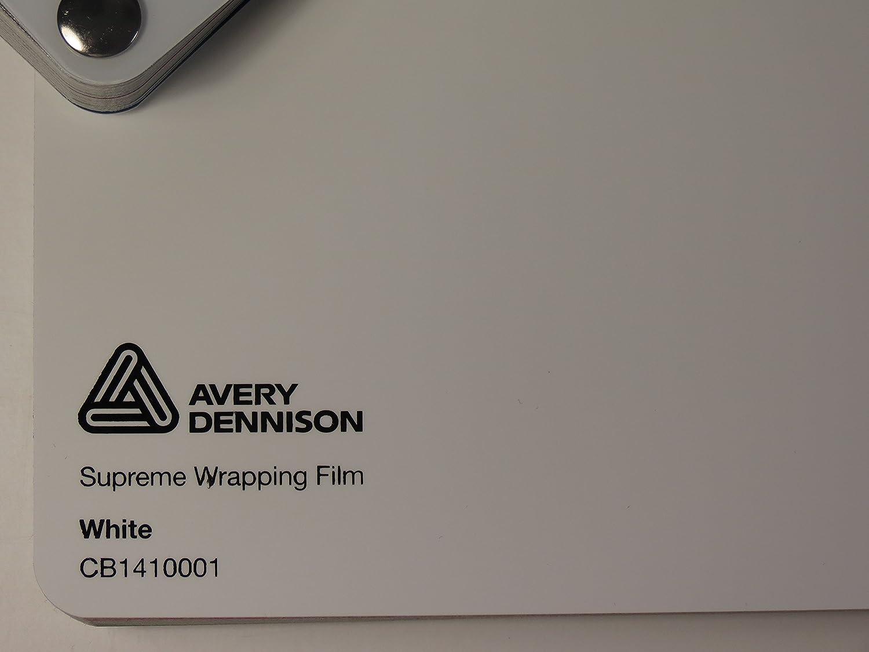 Avery Supreme Wrapping Film sé rie blanc brillant gegossene Film pour voiture 100 x 152 cm Dé coupe