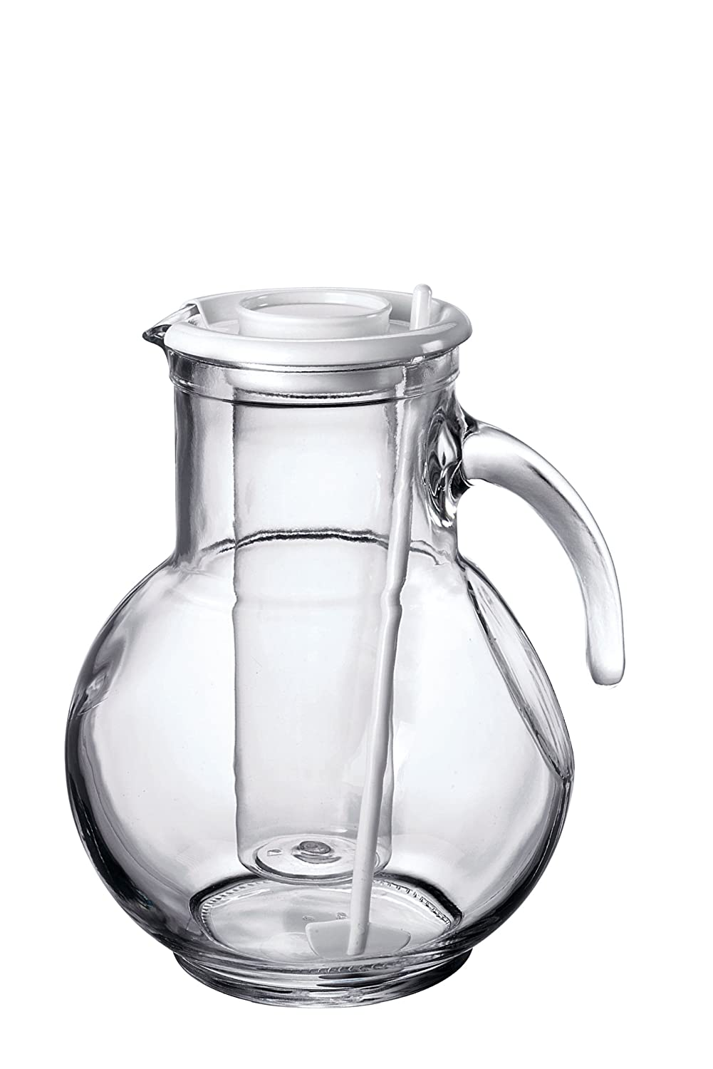 Bormioli Rocco Kufra Jug with Ice Container and White Lid, 72-3/4-Ounce Bormioli Rocco Glass Co. Inc. 135729MP4321990