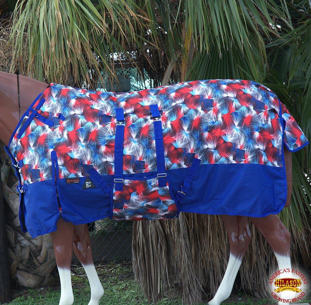HILASON 78 1200D Winter Waterproof Horse Blanket Belly WRAP Fireworks Print