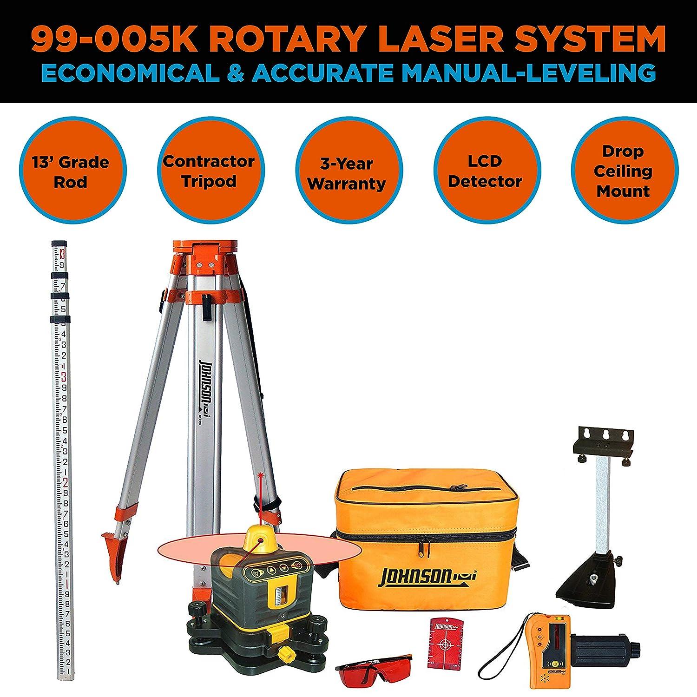 Johnson Level & Tool 99-005K Manual-Leveling Rotary Laser System - -  Amazon.com