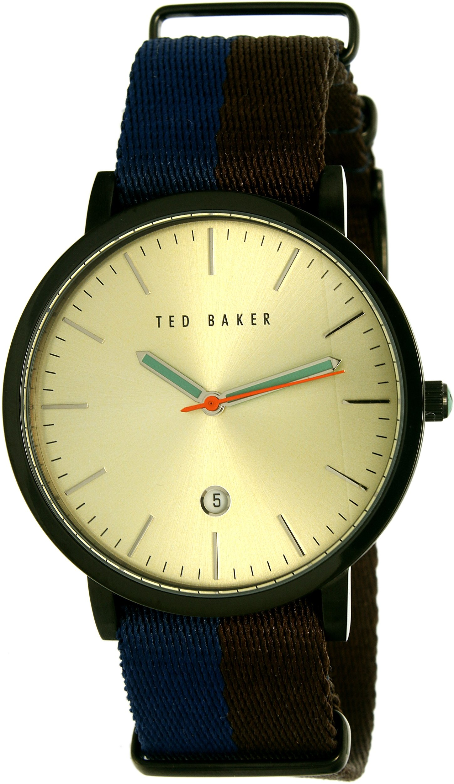 Ted Baker Men's 'Gift Set' Quartz Stainless Steel and Leather Casual Watch, Color:Blue (Model: 10026451)