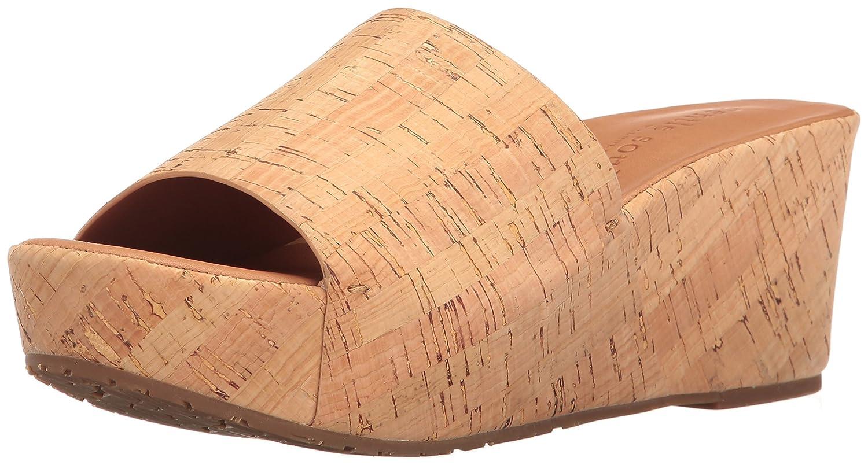 Gentle Souls Women's Forella Platform Slip Slide Sandal B01L9KGFKI 8 M US Natural