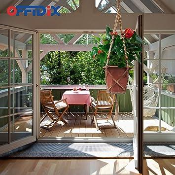 offidix Retro DIY cuerda de cáñamo para colgar macetero para colgar maceteros cestas contenedores de plantas jardín accesorios para el hogar 4 patas maceta soporte para techo al aire libre jardín colgante