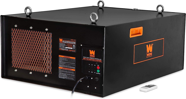 WEN 3410 Sistema de filtración de aire controlado a distancia de 3 velocidades (300/350/400 CFM): Amazon.es ...
