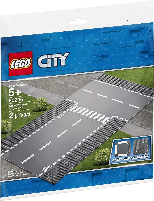 Lego 60236 City Supplementary droite et T-Junction Jouet Train Tracks for Kids