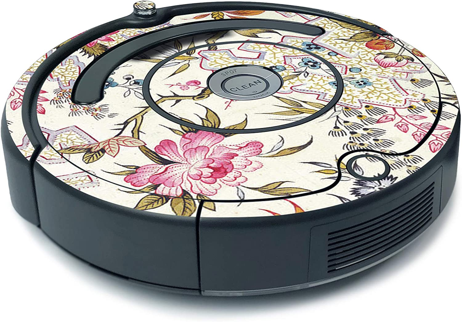 MightySkins Skin for iRobot Roomba 675 Minimal Coverage - Floral Design | Protective, Durable, and Unique Vinyl Decal wrap Cover | Easy to Apply, Remove, and Change Styles | Made in The USA