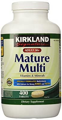 Kirkland Signature Adults, 50 plus Mature Multi Vitamins & Minerals, 400-Count Tablets