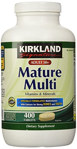 Kirkland Signature Adults, 50 plus Mature Multi Vitamins & Minerals(Recommended Option for Seniors)