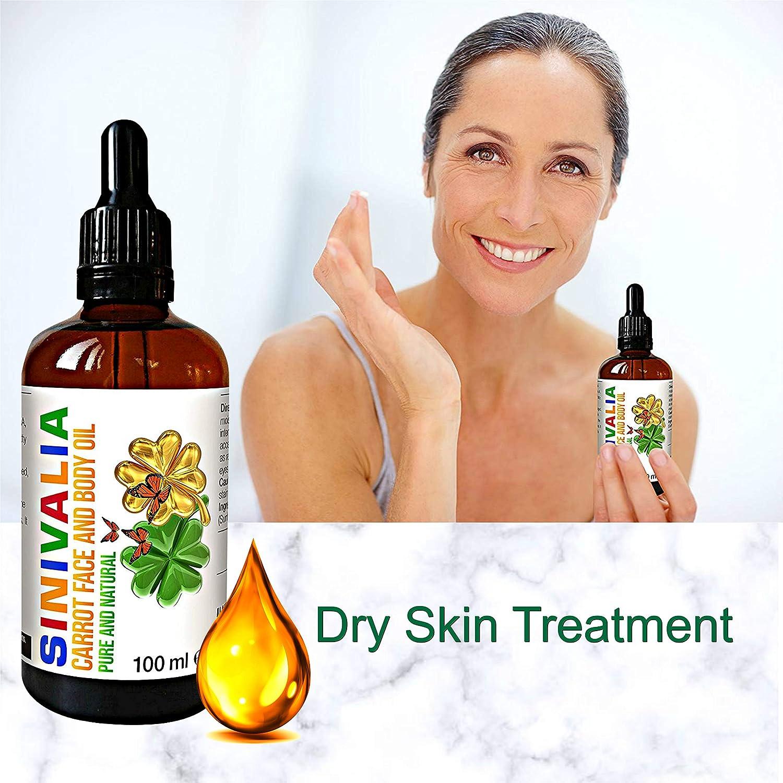 Aceite de zanahoria | Crema hidratante antienvejecimiento para el cuidado de la piel seca o grasa | Aceite para masaje facial y para el tratamiento del ...