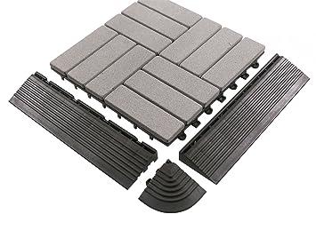 Bodenmax Sandstein Naturstein Click Bodenfliesen Set 30 X 30 Cm