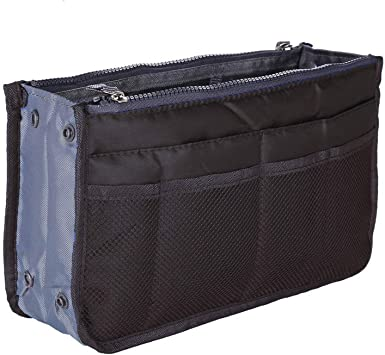 Bolso de mano Organizador Liner ordenados Bolsa de viaje bolsa Bolsa de cosm/éticos Insertar 13 bolsillos Gran insertar bolso organizador Con asas Para las mujeres de los hombres
