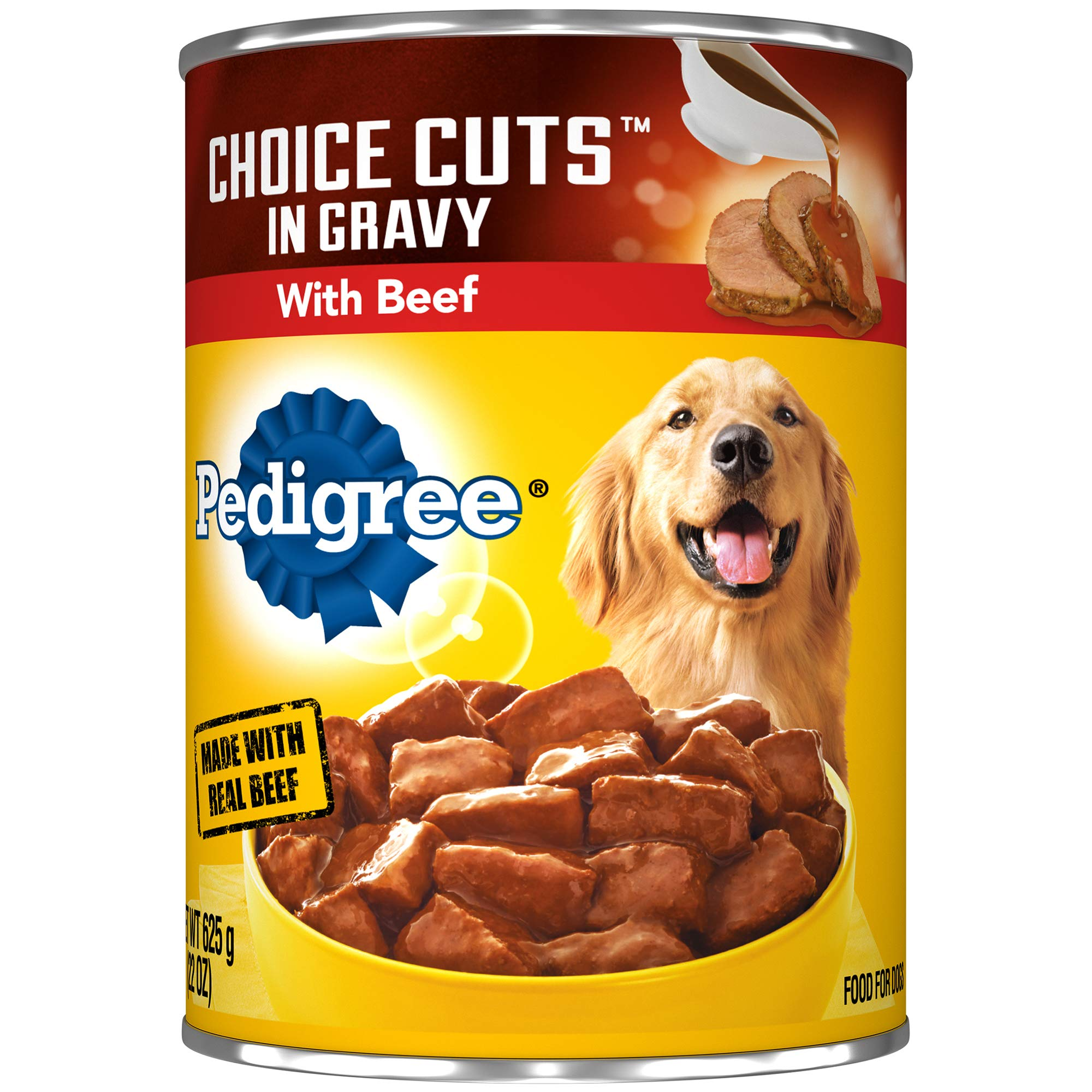 Pedigree Choice Cuts In Gravy With Beef Adult Canned Wet Dog Food, (12) 22 Oz. Cans by Pedigree