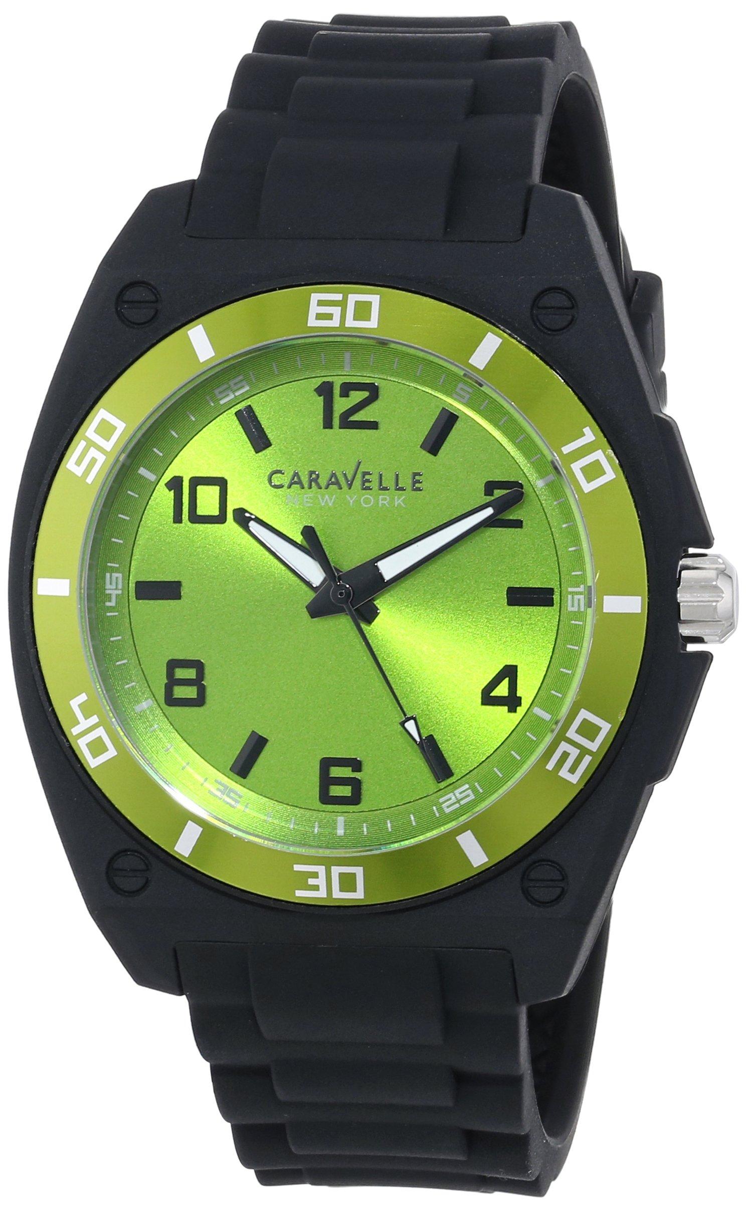 Caravelle New York Men's 45A113 Analog Display Japanese Quartz Black Watch 8
