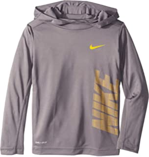 Nike Kids Boys Dri-FIT Long Sleeve Pullover Hoodie (Little Kids)