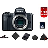 Canon EOS M50 Mirrorless Digital Camera International Model (Black) Body Starter Bundle