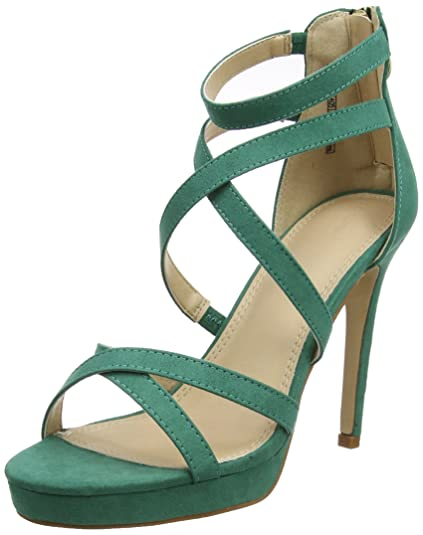 Pimkie Sandales vertes à talons aiguilles effet daim Femme - Taille ... 449c24ef0d1d