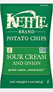 product image for Kettle Brand Potato Chips, Sour Cream and Onion, 5 Ounce (Pack of 15)