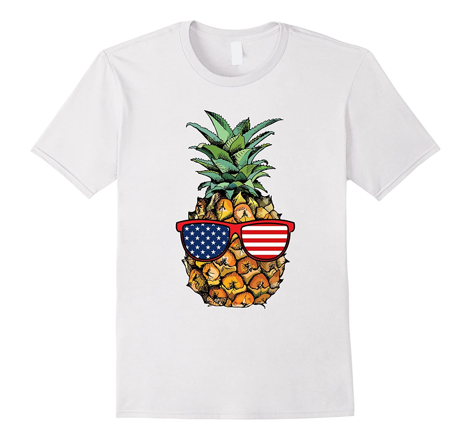 Funny Pineapple Glasses T Shirt Fourth Of July 4th Party