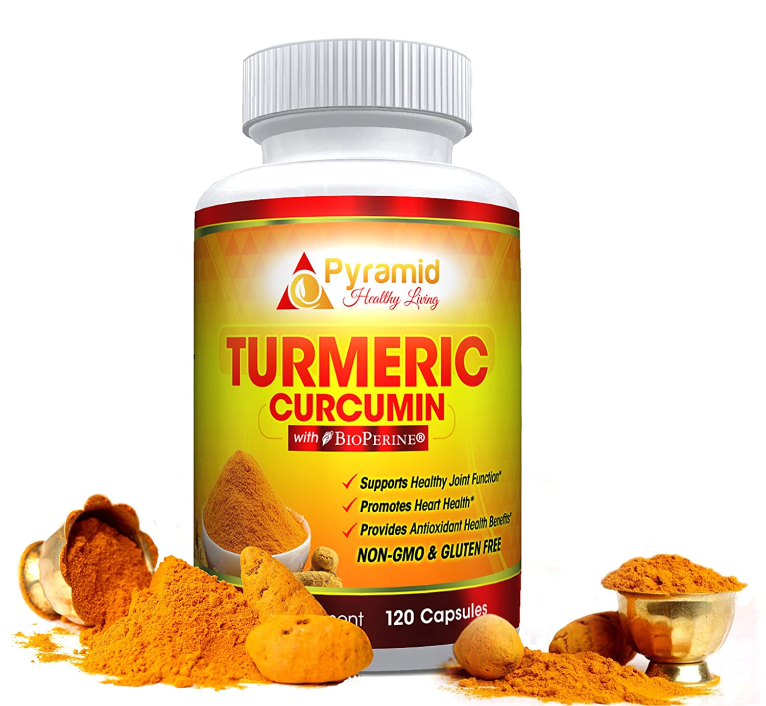 Amazon.com: Premium Grade Turmeric Curcumin Supplement with Bioperine and 95% Standardized Curcuminoids for Optimal Absorption |1300mg Highest Potency, ...