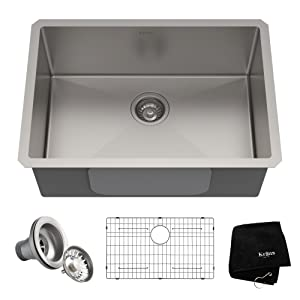 Kraus KHU100-26 Kitchen Sink 26 Inch Stainless Steel