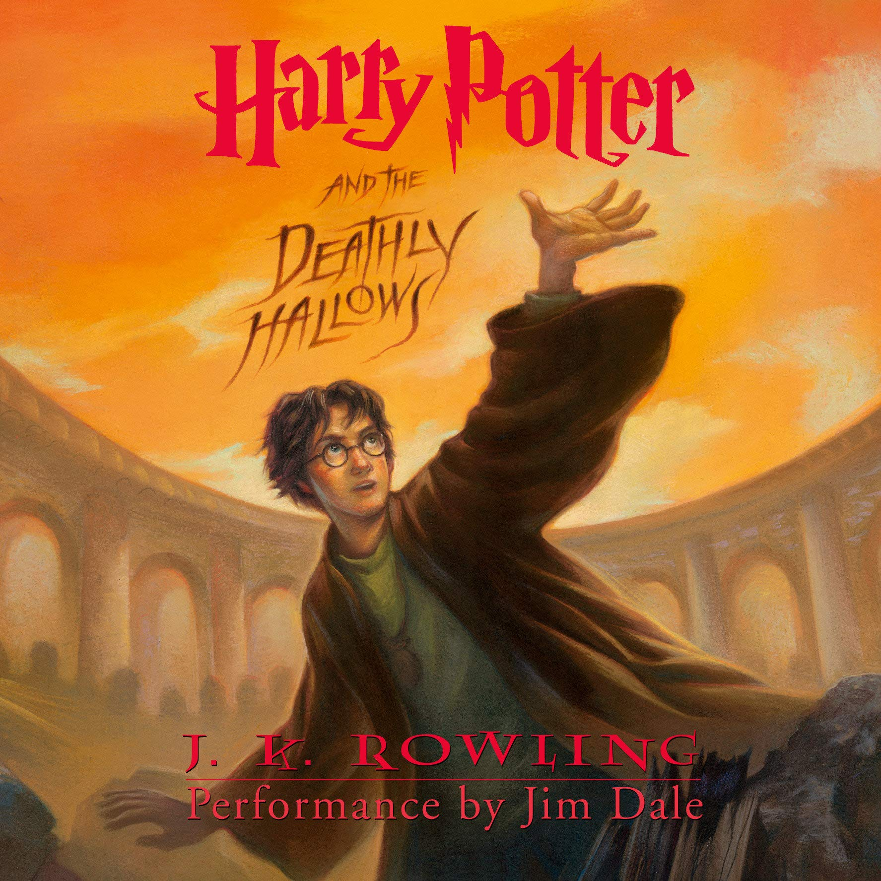 Harry Potter And The Deathly Hallows J K Rowling Jim Dale 8601415574456 Amazon Com Books