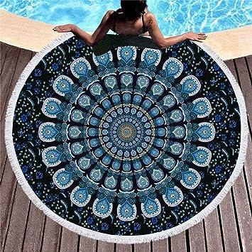 SHASHA Toallas De Playa Redonda Mandala Beach Towel Sand Proof Manta Sand Beach Mat Moda Beach Throw Tapiz Yoga Mat Picnic Mats: Amazon.es: Jardín