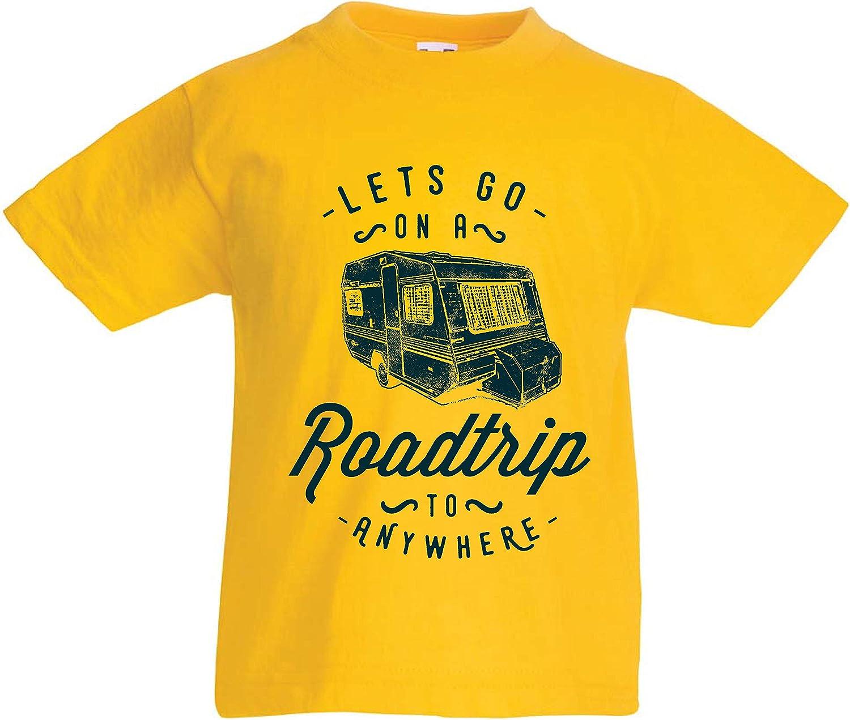 lepni.me Camiseta para Niño/Niña Viaje por Carretera a Cualquier Lugar, Vacaciones Familiares, Amor Camping - Salvaje, Bosque, Vacaciones en la Playa: Amazon.es: Ropa y accesorios