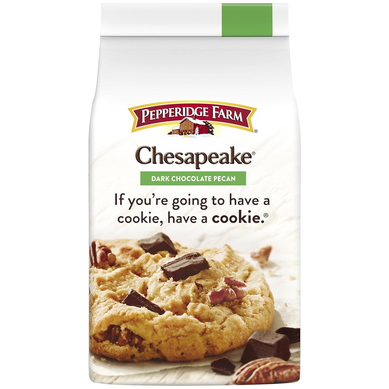 Pepperidge Farm Chesapeake Crispy Chesapeake Dark Chocolate Pecan Cookies 7 2 Ounce Bag Amazon Com Grocery Gourmet Food