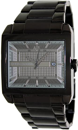 Amazon.com: Armani Exchange Smart Black Dial Black Ion-plated Mens Watch AX2202: Armani Exchange: Watches