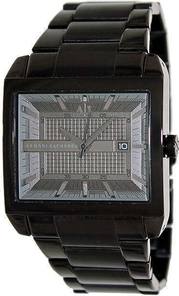 Amazon.com: Armani Exchange Smart Black Dial Black Ion-plated Mens Watch AX2202: Armani Exchange: Watches