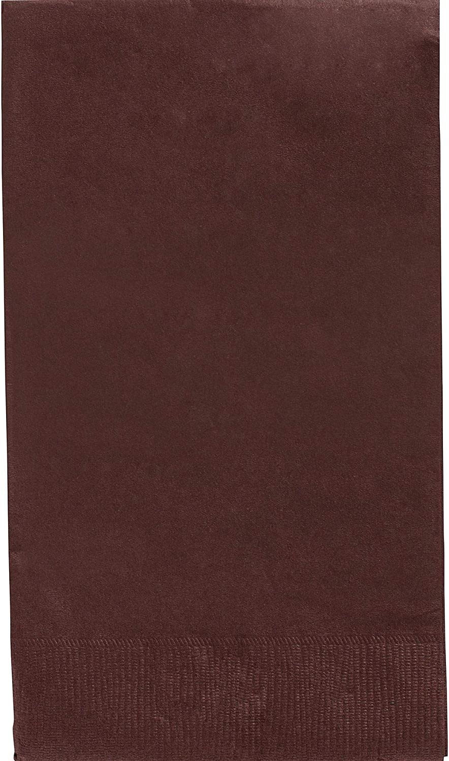 Amscan 63215.111 Big Party Pack 2‑Ply Guest Towels, Chocolate Brown Paper Napkins, 40 Pieces