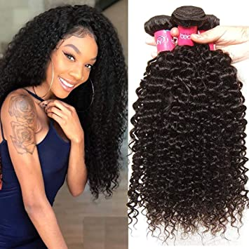 Klaiyi Hair 10A Brazilian Curly Hair Weave 3 Bundles 8 10 12Inch Virgin  Human Hair Extensions 5be839b2da