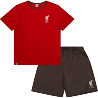 3aff8959267 Mens Official Liverpool FC Short Pyjamas LFC Men s Football Club Pajamas Red