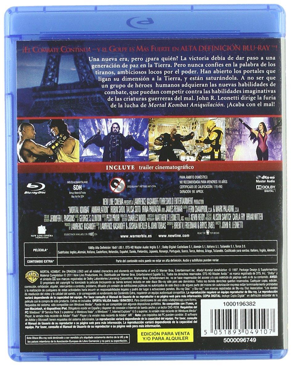 Mortal Kombat 2: Aniquilación [Blu-ray]: Amazon.es: Brian ...