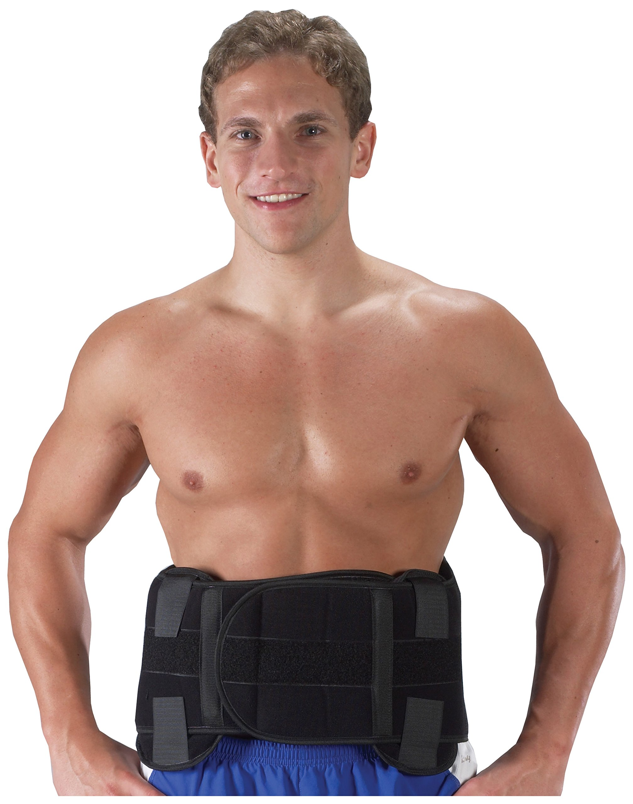 Bilt-Rite Mastex Health Lumbo Protech Extreme Back Support, Black, Large