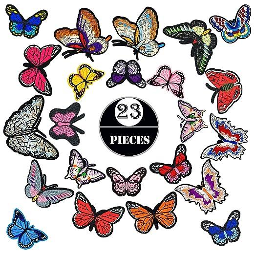Woohome Patch Sticker, 23 Pz Mariposa Grande Parche Termoadhesivo ...