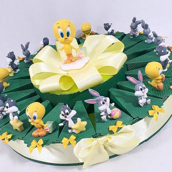 Tarta bombonera original Looney Tunes nacimiento bautizo ...
