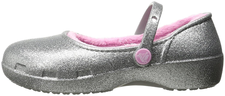 Crocs Karin Sparkle Lined Clog Mary Jane (Toddler/Little Kid) Crocs CA Karin Sparkle Lined Clog - K